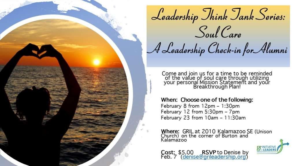 Event: A Leadership Check-in for Alumni - Soul Care
